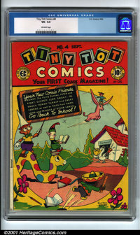 Tiny Tot Comics #4 (EC, 1946). Condition: CGC VG- 3.5, off-white pages. Overstreet 2001 GD 2.0 value = $19; FN 6.0 value...