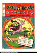 Golden Age (1938-1955):Funny Animal, Tiny Tot Comics #8 (EC, 1947). Condition: GD-. Cover almostdetached; spine has multiple nicks & holes....