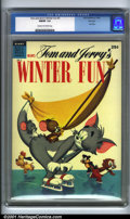 Golden Age (1938-1955):Funny Animal, Tom and Jerry's Winter Fun #3 File Copy (Dell, 1954). Condition:CGC FN/VF 7.0, cream to off-white pages. Dell File Copy. Ov...