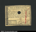 Colonial Notes:Massachusetts, May 5, 1780, $4, Massachusetts, MA-281, AU Cutout Cancel. ...