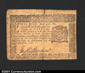 Colonial Notes:New York, September 2, 1775, $1/2, New York, NY-176, Fine. Heavy vertical...