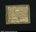 Colonial Notes:Rhode Island, July 2, 1780, $3, Rhode Island, RI-284, VF-XF....