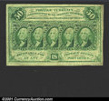 Fractional Currency:First Issue, First Issue 50c, Fr-1312, AU. Trivial tear along top margin....
