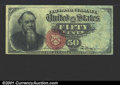 Fractional Currency:Fourth Issue, Fourth Issue Stanton 50c, Fr-1376, AU....