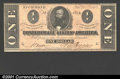 Confederate Notes:1864 Issues, 1864 $1 Clement C. Clay, T-71, CU. Evenly, if a bit closely cut...