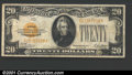 Small Size:Gold Certificates, 1928 $20 Gold Certificate, Fr-2402, Fine-VF. ...