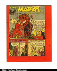 Captain Marvel and the Horn of Plenty #nn (Fawcett, 194?). Condition: NM-. Two-color printing on interior pages; also ha...