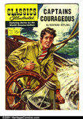 "Golden Age (1938-1955):Classics Illustrated, Classics Illustrated #117 (Gilberton, 1954). Condition: VG. Heavytanning on inside covers. First printing. ""Captains Courag..."