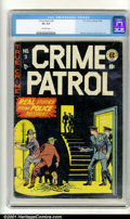 Golden Age (1938-1955):Crime, Crime Patrol #9 (EC, 1948). Condition: CGC VG 4.0, off-white pages. Overstreet 2001 GD 2.0 value = $55; FN 6.0 value = $165....