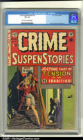 Golden Age (1938-1955):Crime, Crime SuspenStories #18 (EC, 1953). Condition: CGC FN 6.0, light tan to off-white pages. Overstreet 2001 FN value $57....