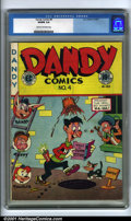 Golden Age (1938-1955):Funny Animal, Dandy Comics #4 (EC, 1947). Condition: CGC VG/FN 5.0, cream tooff-white pages. Overstreet 2001 GD 2.0 value = $19; FN 6.0 v...