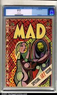 Mad #22 (EC, 1955). Condition: CGC VF 8.0, off-white pages. Overstreet 2001 FN 6.0 value = $115; NM 9.4 value = $420
