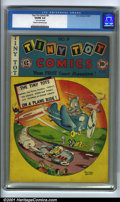 """Golden Age (1938-1955):Funny Animal, Tiny Tot Comics #9 (EC, 1947). Condition: CGC VG/FN 5.0, cream tooff-white pages. 1"""" tear on last four pages. Overstreet 20..."""