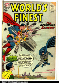 World's Finest Comics #109 (DC, 1960). Condition: GD. Large chunks out of front and back cover