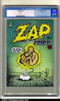 Silver Age (1956-1969):Alternative/Underground, Zap Comix #0 (Last Gasp, 1967). Condition: CGC VF- 7.5, whitepages. Robert Crumb cover and art....