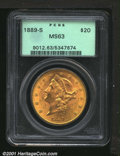 Liberty Double Eagles, 1889-S $20