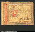 Colonial Notes:Continental Congress Issues, January 14, 1779, $55, Continental Congress Issue, CC-98, XF+. ...