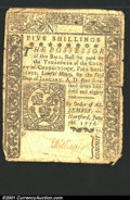 Colonial Notes:Connecticut, June 7, 1776, 5s, Connecticut, CT-199, Fine, CC. Several minor ...