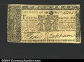 Colonial Notes:Maryland, April 10, 1774, $1, Maryland, MD-66, XF. A crisp, attractive Ma...