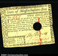 Colonial Notes:Massachusetts, May 5, 1780, $2, Massachusetts, MA-279, VF, hole punch cancelle...