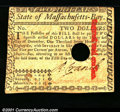 Colonial Notes:Massachusetts, May 5, 1780, $2, Massachusetts, MA-279, Fine-VF. You may bid on...