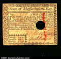 Colonial Notes:Massachusetts, May 5, 1780, $2, Massachusetts, MA-279, VG-Fine. ...