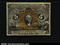 Fractional Currency:First Issue, 1862-1863 5c First Issue, Jefferson, Fr-1230, Choice AU....