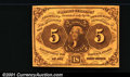 Fractional Currency:First Issue, 1862-1863 5c First Issue, Jefferson, Fr-1230, XF. ...
