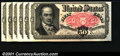 Fractional Currency:Fifth Issue, 1874-1876 50c Fifth Issue, Crawford, Fr-1381, Choice CU. Six ex...