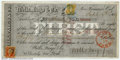 Miscellaneous:Checks, 1869 Check from Wells Fargo & Co., San Francisco, CA, VF+. ...