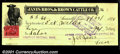 Miscellaneous:Checks, 1899 Check from the Janes Bros. & Brown Cattle Co., Amarillo,T...
