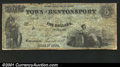 Obsoletes By State:Iowa, 1857 $5 Town of Bentonsport, IA, Fine+....