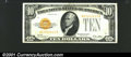 Small Size:Gold Certificates, 1928 $10 Gold Certificate, Fr-2400, AU. Bright, crisp, and well...