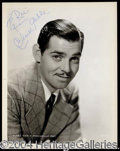 Autographs, Clark Gable