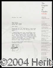 Charles Schulz - Interesting typed letter, dated October 14, 1987. Schulz writes to a frustrated High School friend who...