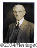 Autographs, Henry Ford