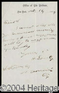 Autographs, Horace Greeley