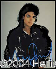 Michael Jackson - Signed May 7, 1998 Est. 150-200