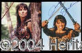 Autographs, Lucy Lawless-2 Photos