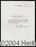 Autographs, Harry Truman
