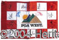 Autographs, PGA Signed Golf Tee Flag