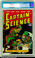 Golden Age (1938-1955):Science Fiction, Captain Science #4 (Youthful Magazines, 1951). CGC VF- 7.5, cream to off-white pages. Wally Wood and Joe Orlando art. Overst...