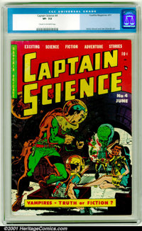 Captain Science #4 (Youthful Magazines, 1951). CGC VF- 7.5, cream to off-white pages. Wally Wood and Joe Orlando art. Ov...