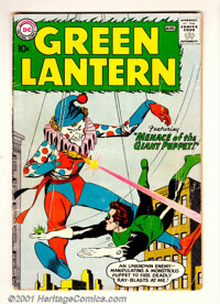 "Green Lantern (2nd Series) #1 (DC, 1960). Condition: VG-. Spine split 1 1/2"" at bottom, 1/2"" in center, and 1/..."