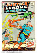 Silver Age (1956-1969):Superhero, Justice League of America #25 (DC, 1964). Condition: GD/VG. Cover detached from bottom staple. Subscription crease....