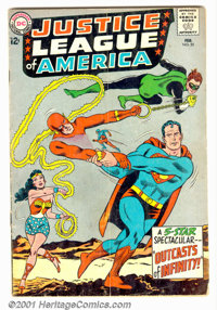 Justice League of America #25 (DC, 1964). Condition: GD/VG. Cover detached from bottom staple. Subscription crease