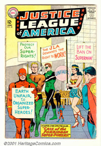Justice League of America #28 (DC, 1964). Condition: GD+. Centerfold detached
