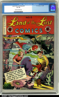 Land of the Lost #8 (EC, 1947). CGC GD+ 2.5, cream to off-white pages. Overstreet 2001 GD 2.0 value = $19
