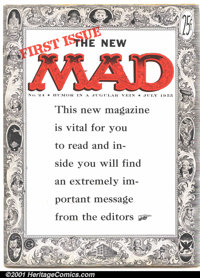 "Mad #24 (EC, 1955). Condition: FN. First magazine format issue; first ""What, me worry?"""