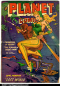 Golden Age (1938-1955):Science Fiction, Planet Comics #66 (Fiction House, 1952). Condition: GD; lower rightcorner missing....